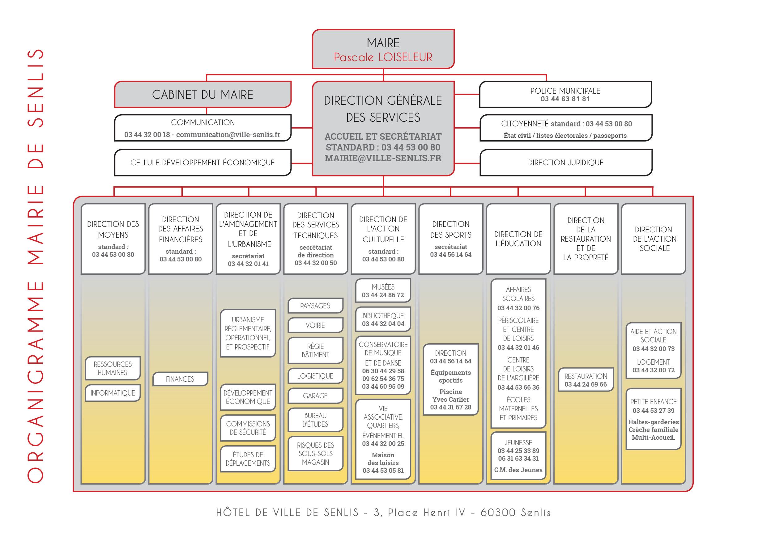Organigramme Services Ville De Paris