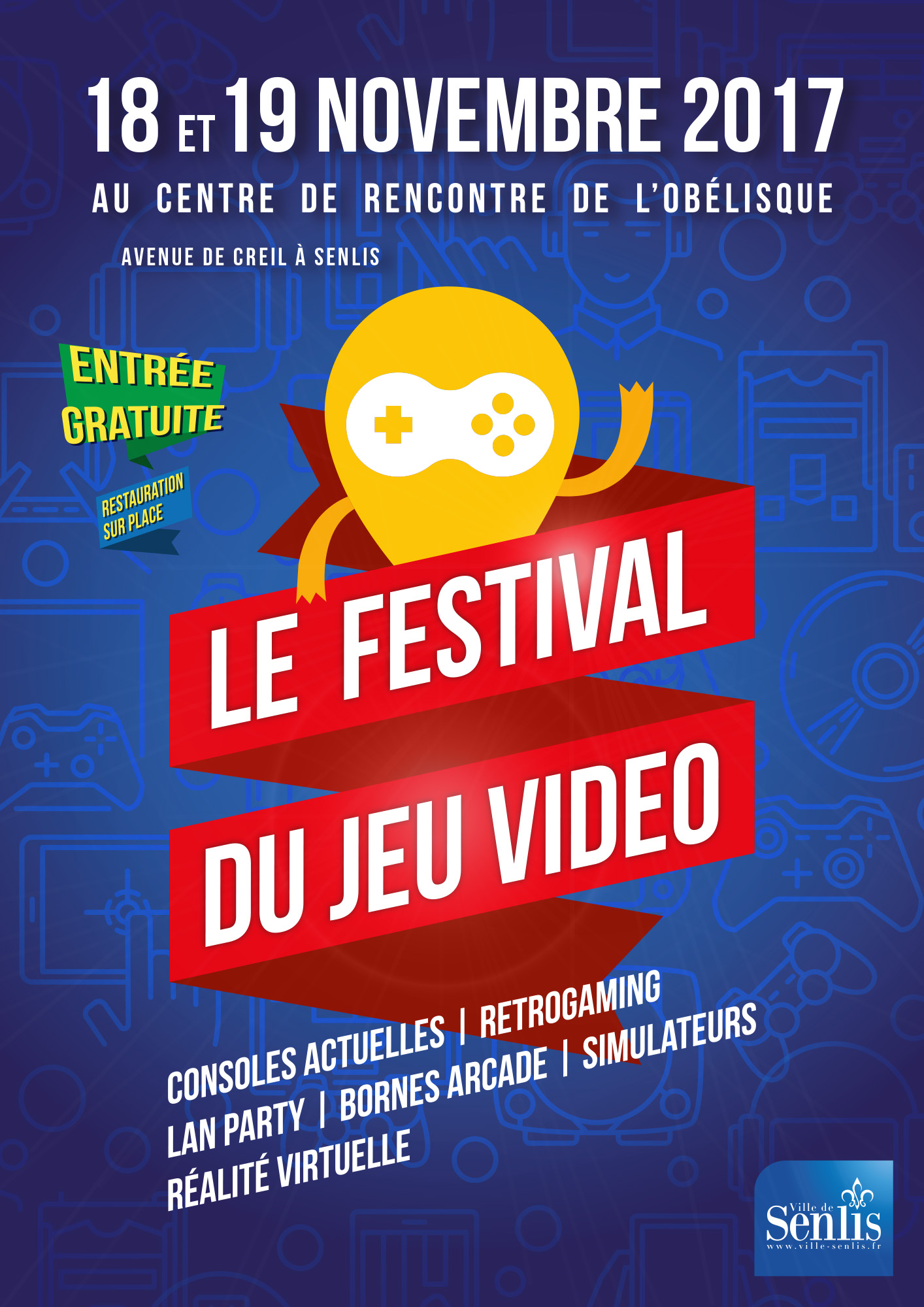 Festival du Jeu video 2017 - flyer