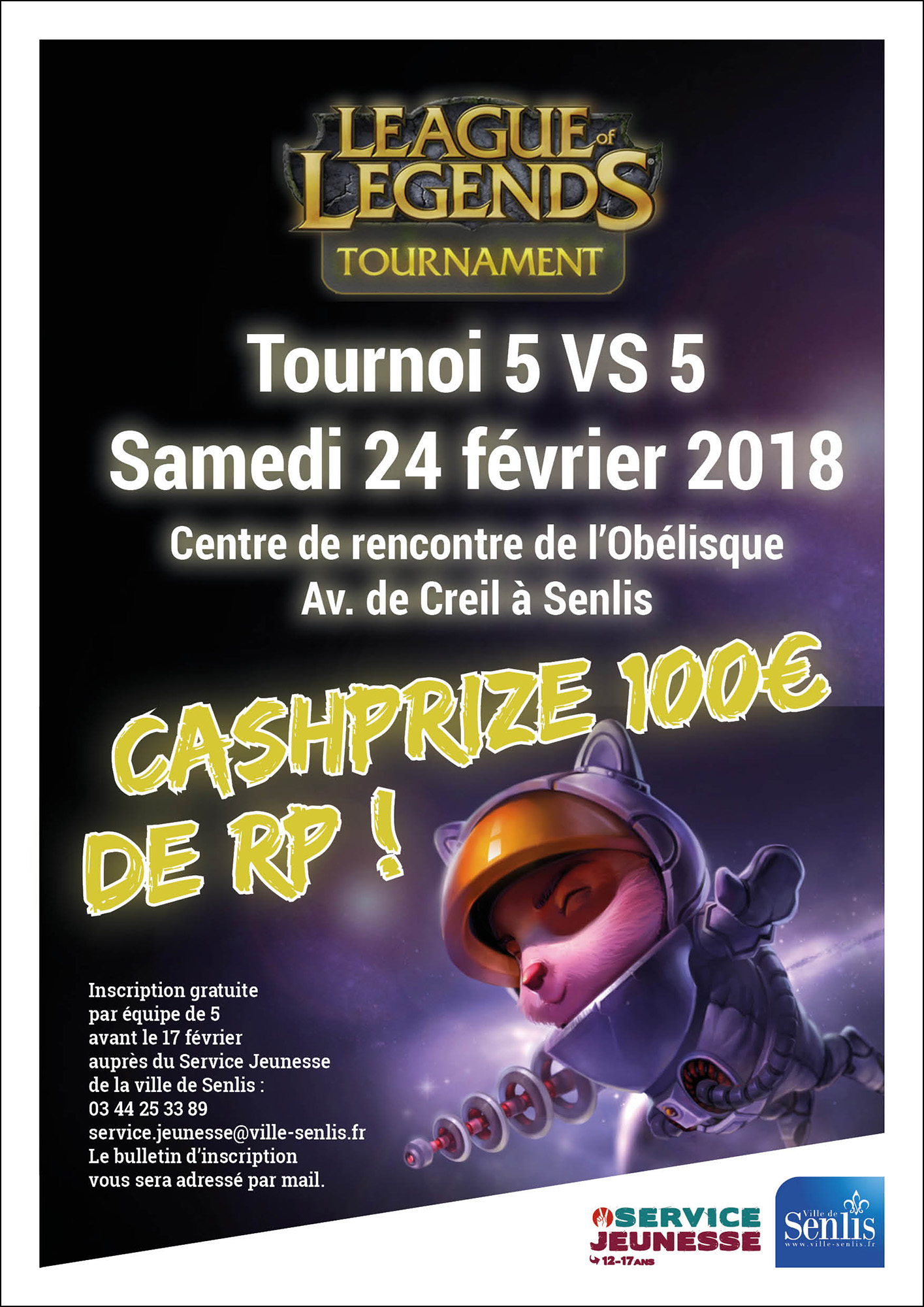 Tournoi - LEAGUE OF LEGENDS - AFFICHE